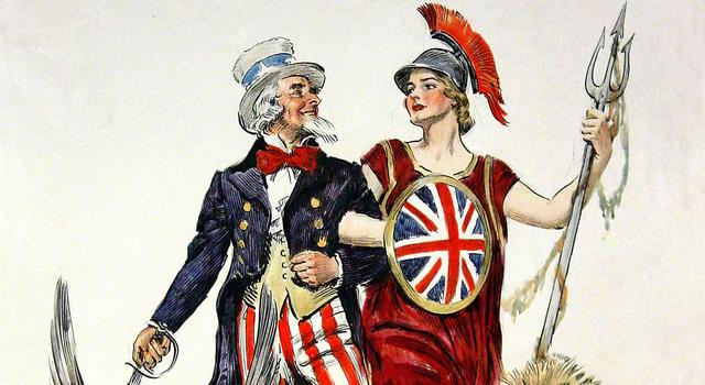the special relationship britannia and uncle sam strolling